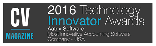CV Magazine - 2016 Technology Innovator Award - Aatrix Software - Most Innovative Accounting Software Company - USA