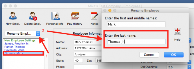 Read on how to include suffixes in employee names.