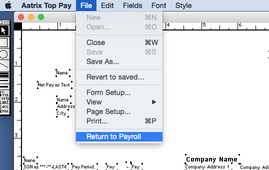 Learn how to align paychecks for printing.