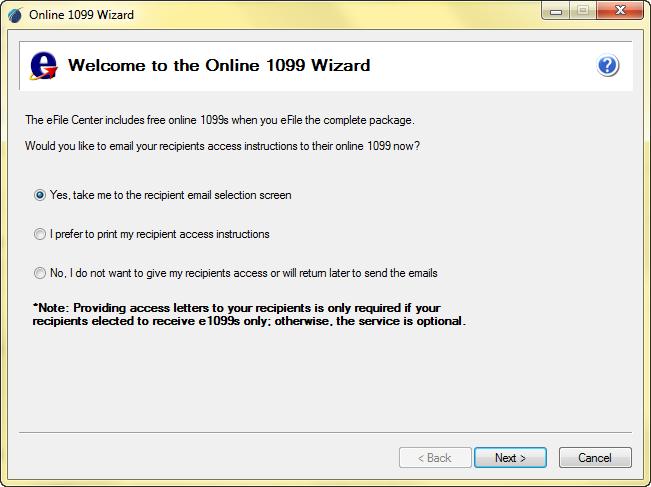 Aatrix :: 1099 Initial Filings (Windows OS)