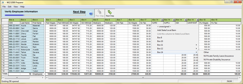 Aatrix Nj Wage And Tax Formats
