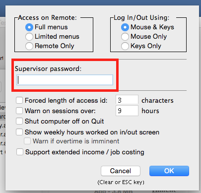 Read more about the Default Supervisor Password.