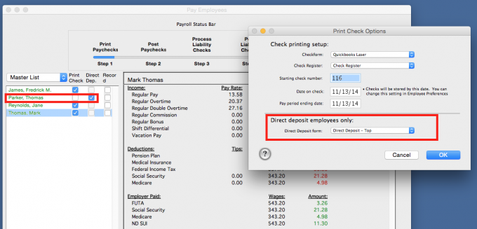 Aatrix :: Printing Check Stub for Direct Deposit Employees