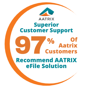 Superior Customer Support - 97% of Aatrix Customer Recommend AATRIX eFile Solution