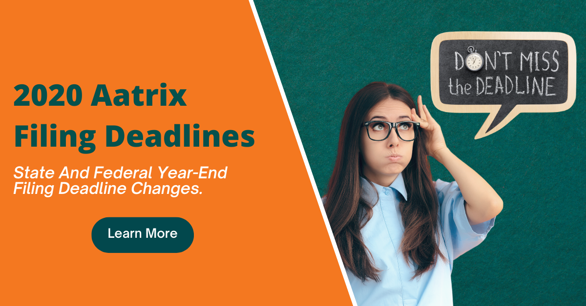 W-2/1099/ACA Year-End eFile Deadlines for 2020