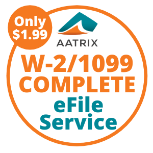 W-2/1099 COMPLETE eFile Service - Only $1.99