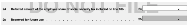 Line 24 and 25 IRS Form 941