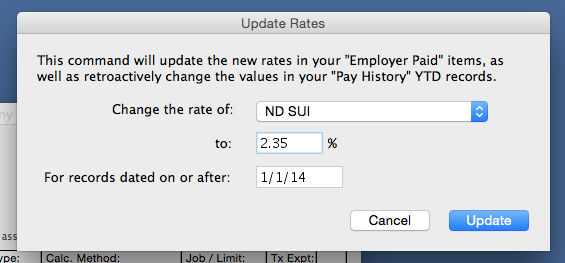 Learn how to update your State Unemployment Rate for the year even after paychecks have already been processed.