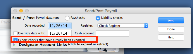 FAQ: When posting my liability payments, I receive a message 'No Records were exported.' How do I correct this?