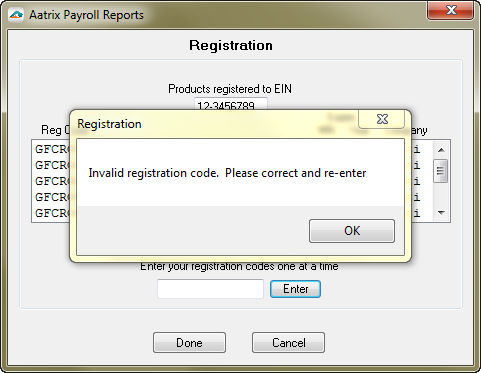 Learn what to do when your registration code is invalid.